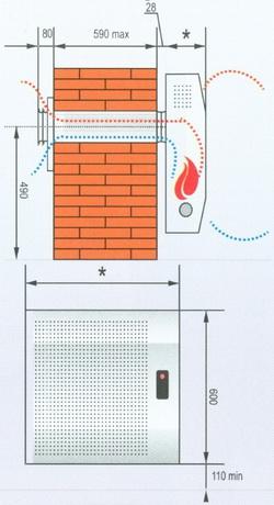 Схема монтажа конвекторов АКОГ