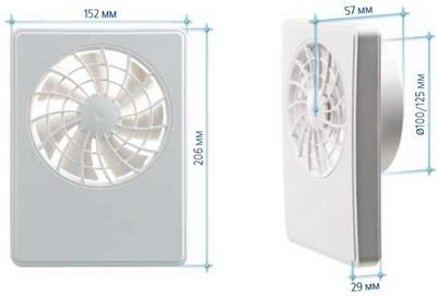 Вентиляторы iFan (айФан) размеры